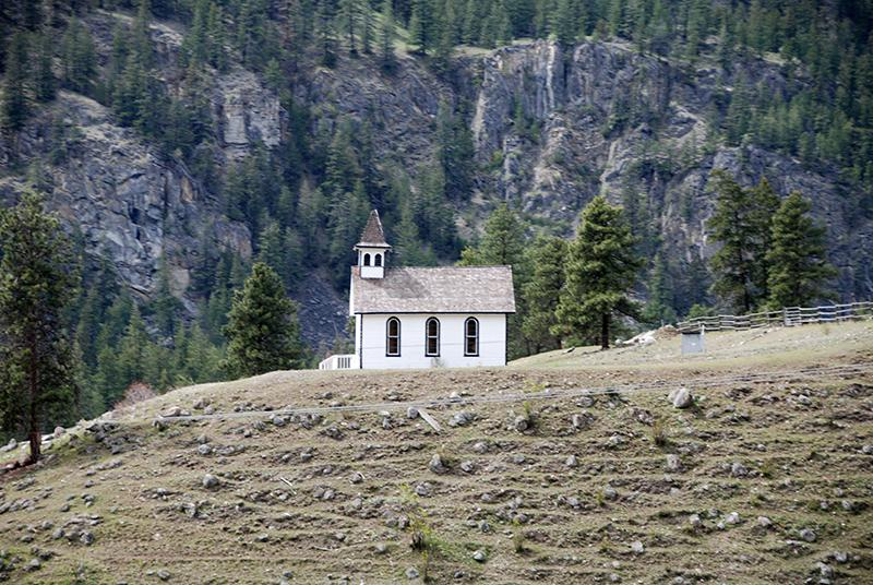a lonely little church - we saw MANY